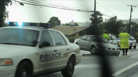 car crash on road 2 Stock Video Footage