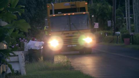 garbage trucks in paradise Stock Video Footage