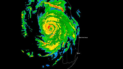 Hurricane Charley Landfall Time Lapse Stock Video Footage