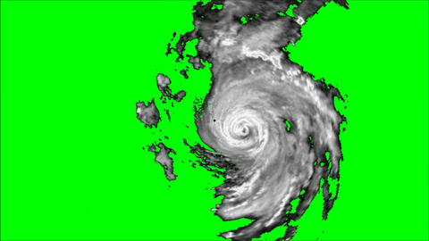Hurricane Alpha channel Stock Video Footage