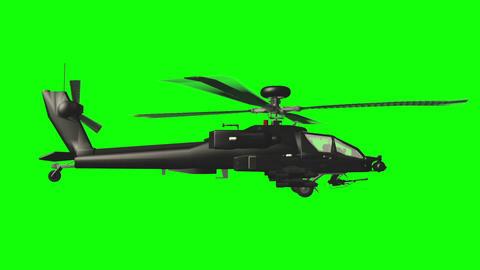 Apache GS side loop 02 Stock Video Footage