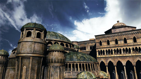 Byzantine Constantinaples Clouds Timelapse 01 Stock Video Footage