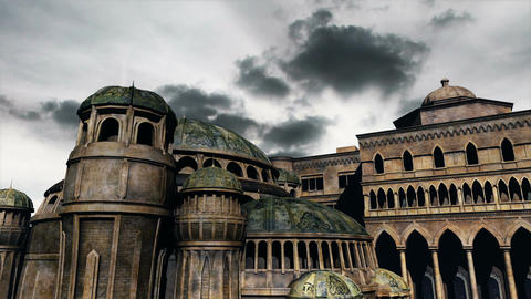 Byzantine Constantinaples Clouds Timelapse 03 Stock Video Footage
