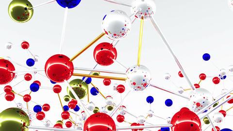 Complex Molecule Structure 01 Stock Video Footage