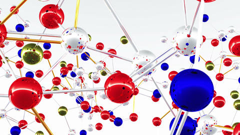 Complex Molecule Structure 01 Animation
