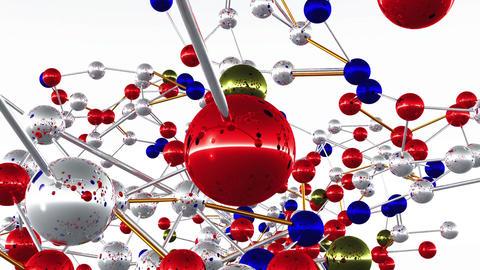 Complex Molecule Structure 03 Stock Video Footage