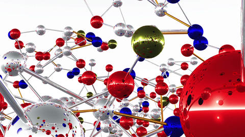 Complex Molecule Structure 03 Stock Video Footage