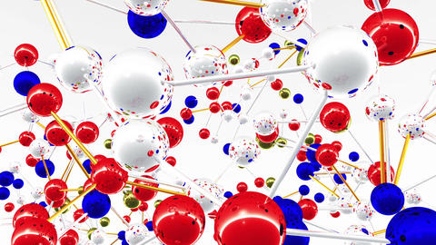 Complex Molecule Structure 05 Stock Video Footage