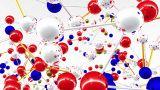 Complex Molecule Structure 05 stock footage