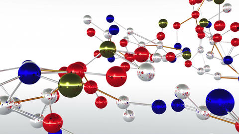 Complex Molecule Structure 07 Stock Video Footage