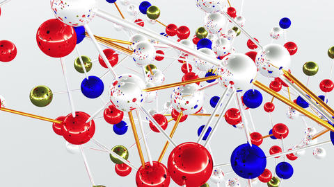 Complex Molecule Structure 09 Stock Video Footage