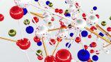 Complex Molecule Structure 09 stock footage