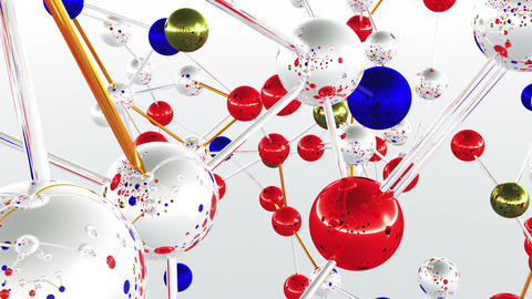 Complex Molecule Structure 09 Stock Video Footage