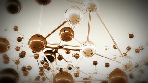 Complex Molecule Structure 11 Stock Video Footage