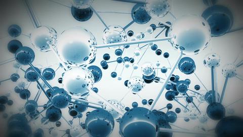 Complex Molecule Structure 13 Stock Video Footage