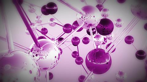 Complex Molecule Structure 15 Stock Video Footage
