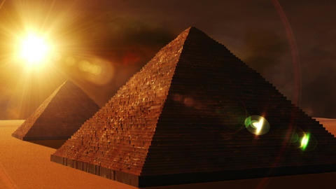 Egyptian Pyramid 01 Stock Video Footage