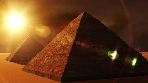 Egyptian Pyramid 01 Stock Video Footage