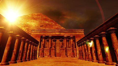 Egyptian Shrine 01 Stock Video Footage