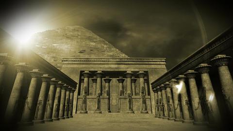 Egyptian Shrine 03 Stock Video Footage