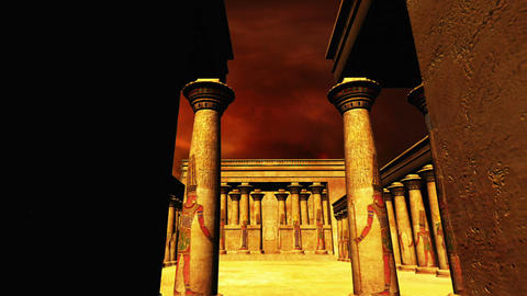 Egyptian Shrine 05 Stock Video Footage