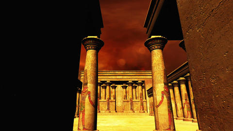 Egyptian Shrine 07 Stock Video Footage