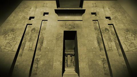 Egyptian Shrine 09 Stock Video Footage