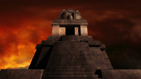 Maya Pyramid Dramatic Sunset 02 Animation