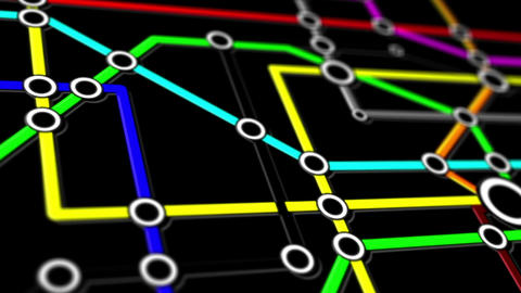 Subway Network People Connections v1 12 Animation