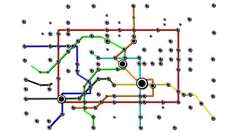 Subway Network People Connections v2 02 Animation