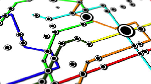 Subway Network People Connections v5 02 Animation