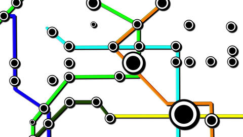Subway Network People Connections v6 02 Animation