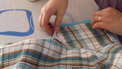 ironing Stock Video Footage