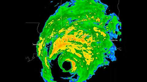 Hurricane Ivan Landfall Time Lapse Stock Video Footage