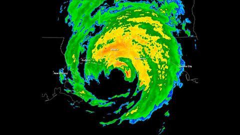 Hurricane Ivan Landfall Time Lapse Stock Video Footage