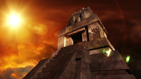 Maya Pyramid Dramatic Sunset 11 Animation