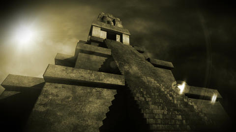 Maya Pyramid Dramatic Sunset 13 Animation