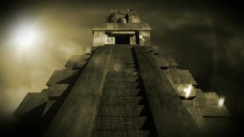 Maya Pyramid Dramatic Sunset 15 Animation