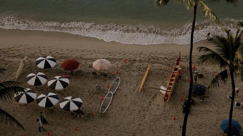 Beach Life Waikiki Stock Video Footage