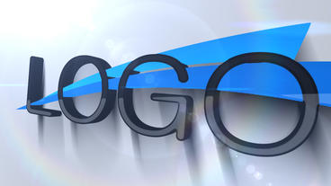 Simple 3D Logo VR 04 stock footage