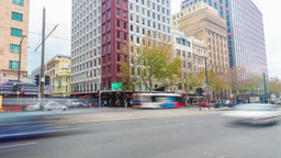 4k timelapse video of the King William Street in Adelaide, South Australia Footage