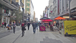 People in Rundle Mall in Adelaide, Australia on Jun 19, 2014 Footage