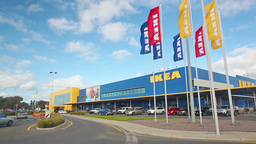 View of Ikea store in Adelaide, Australia on Jul 6, 2014 Stock Video Footage