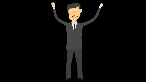 happy business man character 04 Animation