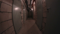 Basement Corridor Walking stock footage