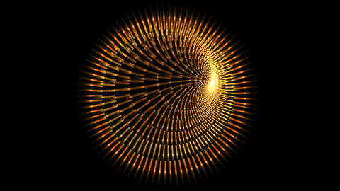 Abstract golden tunnel Animation