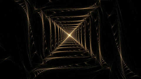 golden wire squares Animation