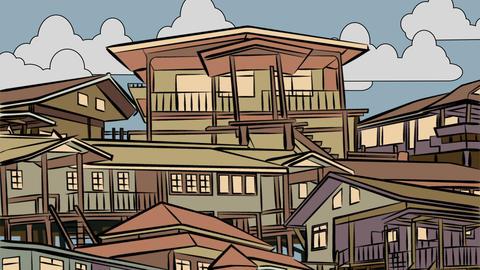 Dusk housing animation Animation