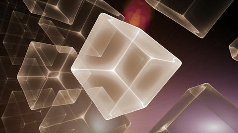 Cubic Perspective with Rays of Light Animation