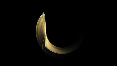 Golden Circle In Motion, Rotating Animation